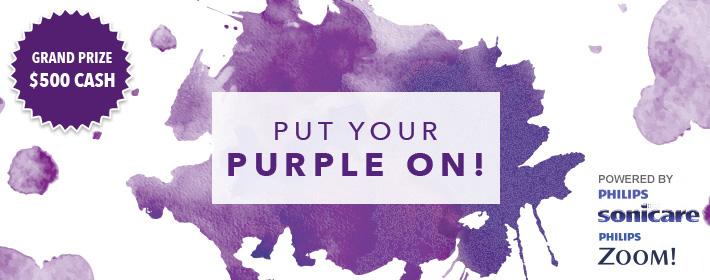 put your purple on