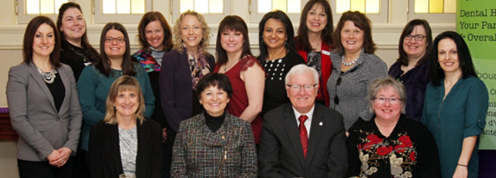Ondina Love (CEO), Gerry Cool (Alberta), Bill Casey (Chair of the Health Committee), Donna Scott (Yukon, Northwest Territories, Nunavut), Tiffany Ludwicki (Newfoundland & Labrador), Deanna Mackay (Manitoba), Sophia Baltzis (Quebec), Wendy