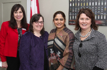 Beth Ryerse (Ontario), Victoria Leck (Manager of Professional Development), Kamal Khera (Brampton West), Jennifer Turner (Director of Dental Hygiene Practice)