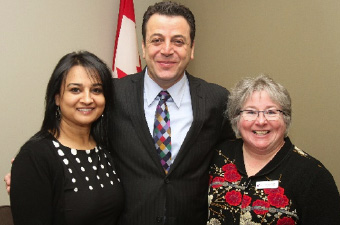 Mandy Hayre (British Columbia), Ziad Aboultaif (MP, Edmonton Manning), Donna Scott (Yukon, Northwest Territories, Nunavut)