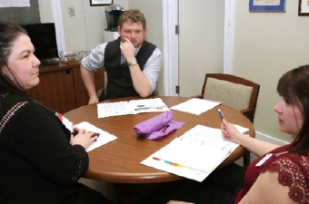 Deanna Mackay (Manitoba), Daniel Blaikie (MP, Elmwood, Transcona), Leanne Huvenaars (Saskatchewan)